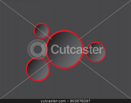 Abstract background with circles stock vector clipart, Abstract black background with red circles by Alexandru Ghidan Daniel