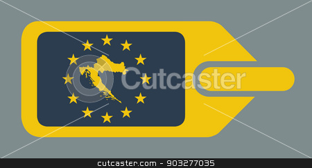 Croatia European luggage label stock photo, Croatia Republic European travel luggage label or tag in flat web design colors. by Martin Crowdy