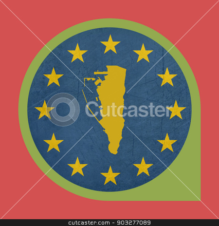 European Union Gibraltar marker pin button stock photo, European Union Gibraltar marker pin button isolated on white background. by Martin Crowdy