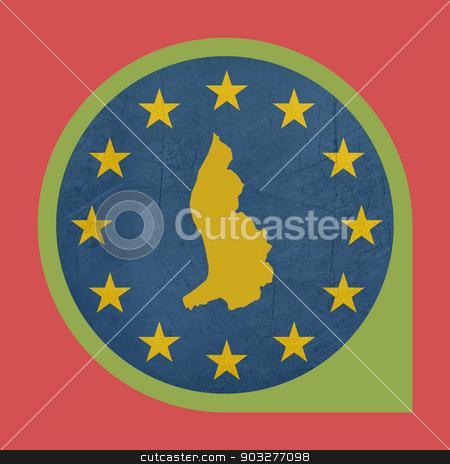 European Union Liechtenstein marker button stock photo, European Union Liechtenstein marker button isolated on white background. by Martin Crowdy