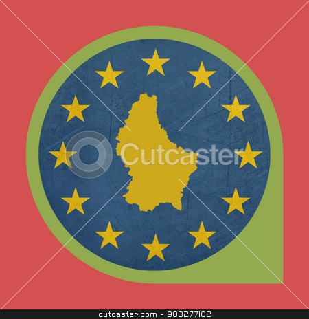 European Union Luxembourg marker button stock photo, European Union Luxembourg marker button isolated on white background. by Martin Crowdy