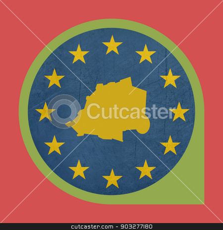 European Union Vatican City marker pin stock photo, European Union Vatican City button isolated on white background. by Martin Crowdy