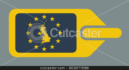 United Kingdom European luggage label stock photo, United Kingdom European luggage label or tag in flat web design colors. by Martin Crowdy