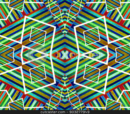 Colorful Geometric Abstract Pattern stock photo, Digital technique geometric abstract background pattern in colorful scheme compposition by Daniel