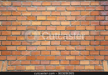 red real brick wall stock photo, texture of red real brick wall, architectural pattern for your design by coroiu octavian