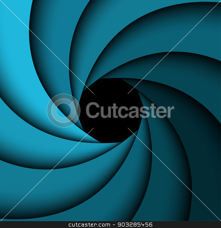Abstract background, blue rainbow swirl stock vector clipart, Abstract background, blue rainbow swirl by kurkalukas
