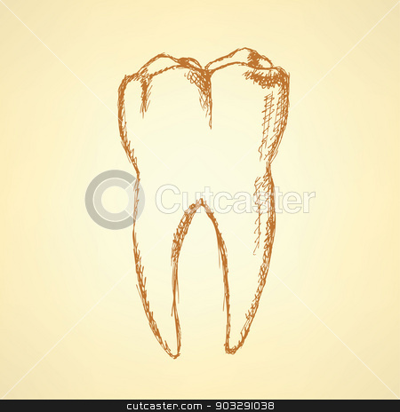Sketch teeth, vector vintage background stock vector clipart, Sketch teeth, vector vintage background eps 10 by Lily