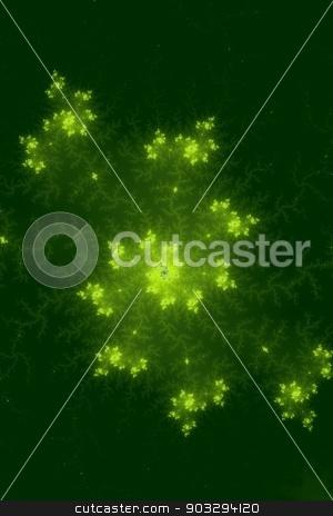 Green Fractal stock photo, Mandelbrot fractal in the colors of green. by Henrik Lehnerer