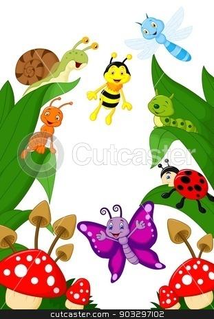 Small animals cartoon stock vector clipart, vector illustration of Small animals cartoon by Teguh Mujiono