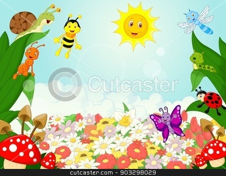 Small animals cartoon stock vector clipart, vector illustration of Small animals cartoon by Teguh Mujiono
