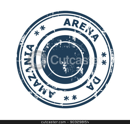 Arena da Amazania stadium stamp stock photo, Arena da Amazania stadium in Brazil grunge stamp isolated on a white background. by Martin Crowdy