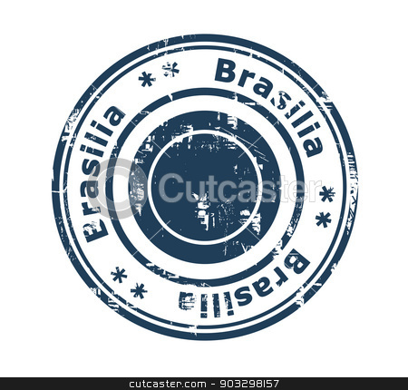 Brasilia concept stamp stock photo, Grunge stamp of the city of Brasilia in Brazil isolated on a white background. by Martin Crowdy
