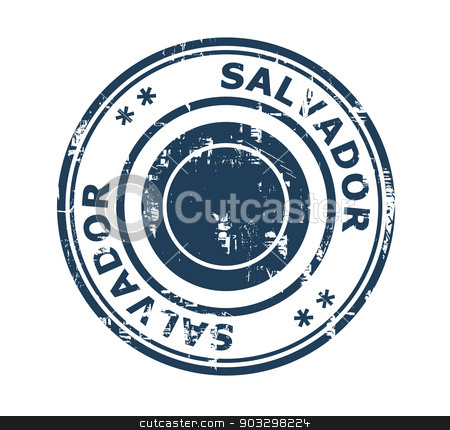 City of Salvador stamp stock photo, Grunge stamp of the city of Salvador in Brazil isolated on a white background. by Martin Crowdy