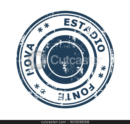 Estadio Fonte Stadium stamp stock photo, Estadio Fonte Nova in Brazil grunge stamp isolated on a white background. by Martin Crowdy