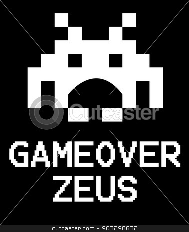 Gameover Zeus virus space invader stock photo, Gameover Zeus virus concept using space invaders game. by Martin Crowdy