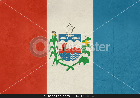 Grunge state flag of Alagoas in Brazil stock photo, Grunge state flag of Alagoas in Brazil. by Martin Crowdy