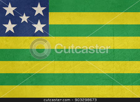 Grunge state flag of Goias in Brazil stock photo, Grunge state flag of Goias in Brazil. by Martin Crowdy