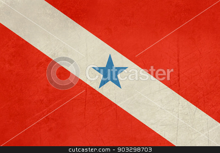 Grunge state flag of Para in Brazil stock photo, Grunge state flag of Para in Brazil. by Martin Crowdy