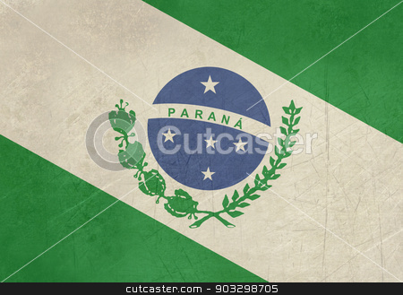 Grunge state flag of Parana in Brazil stock photo, Grunge state flag of Parana in Brazil. by Martin Crowdy
