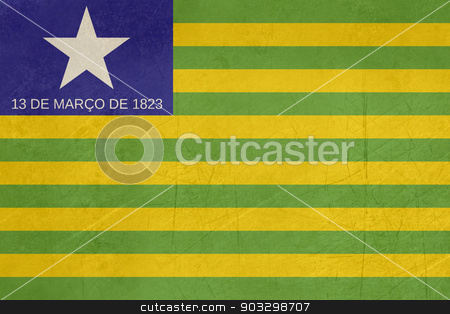 Grunge state flag of Piaui in Brazil stock photo, Grunge state flag of Piaui in Brazil. by Martin Crowdy