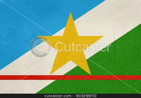 Grunge state flag of Roraima in Brazil stock photo, Grunge state flag of Roraima in Brazil. by Martin Crowdy