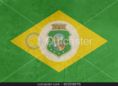 Grunge state flag of Ceara in Brazil stock photo, Grunge state flag of Ceara in Brazil by Martin Crowdy