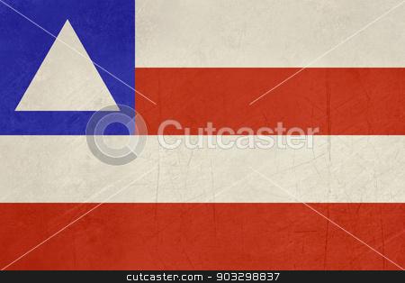 Grunge state flag of Bahia in Brazil stock photo, Grunge state flag of Bahia in Brazil. by Martin Crowdy