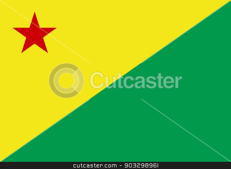 State flag of Acre in Brazil stock photo, State flag of Acre in Brazil. by Martin Crowdy