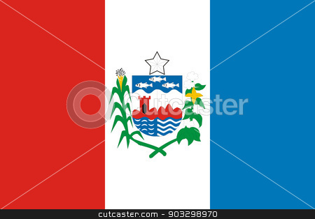 State flag of Alagoas in Brazil stock photo, State flag of Alagoas in Brazil by Martin Crowdy