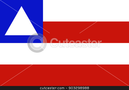 State flag of Bahia in Brazil stock photo, State flag of Bahia in Brazil by Martin Crowdy