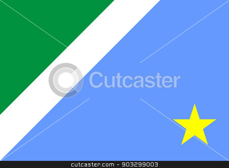State flag of Mato Grosso do Sul in Brazil stock photo, State flag of Mato Grosso do Sul in Brazil. by Martin Crowdy