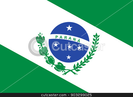 State flag of Parana in Brazil stock photo, State flag of Parana in Brazil. by Martin Crowdy