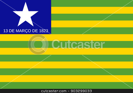 State flag of Piaui in Brazil stock photo, State flag of Piaui in Brazil by Martin Crowdy