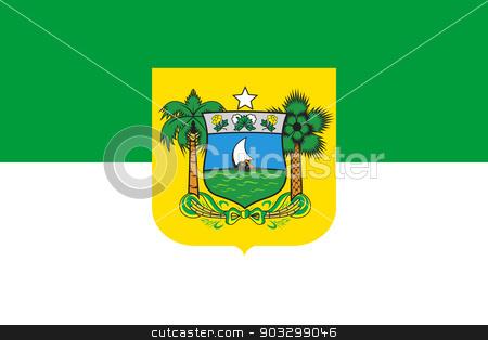 State flag of Rio do Norte in Brazil stock photo, State flag of Rio do Norte in Brazil. by Martin Crowdy