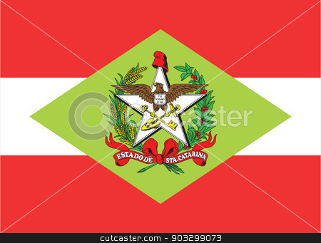State flag of Santa Catarina in Brazil stock photo, State flag of Santa Catarina in Brazil by Martin Crowdy