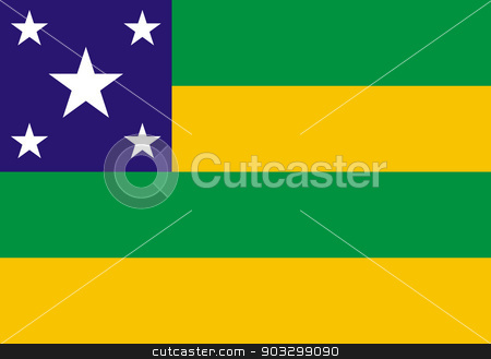 State flag of Sergipe in Brazil stock photo, State flag of Sergipe in Brazil by Martin Crowdy