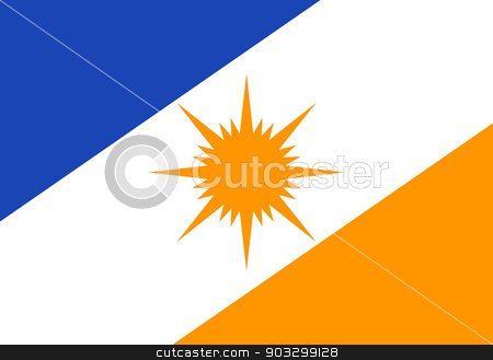 State flag of Tocantinas in Brazil stock photo, State flag of Tocantinas in Brazil. by Martin Crowdy