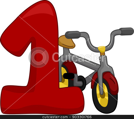 Number 1 stock vector clipart, Illustration Featuring the Number 1 by BNP