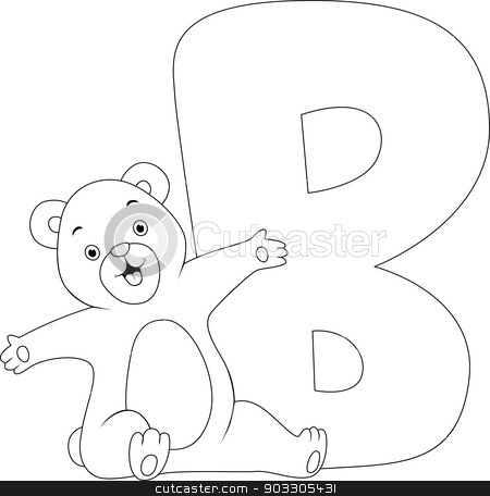 Coloring Page Bear stock vector clipart, Coloring Page Illustration Featuring a Bear by BNP