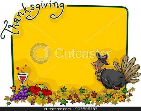 Thanksgiving Background stock vector clipart, Background Illustration with a Thanksgiving Theme by BNP