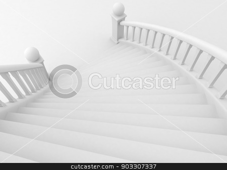 Grand Staircase stock photo, 3D Illustration of a Grand Staircase by BNP