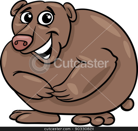 bear animal cartoon illustration stock vector clipart, Cartoon Illustration of Funny Wild Bear Animal by Igor Zakowski