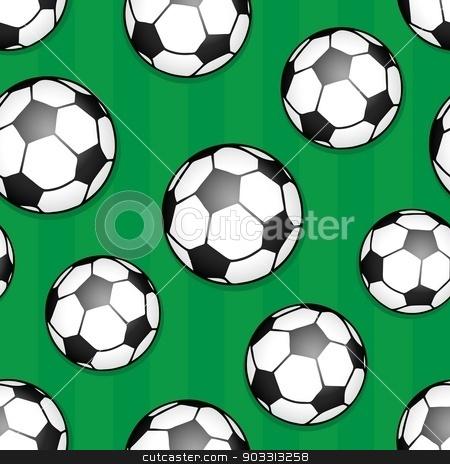 Seamless background soccer theme 1 stock vector clipart, Seamless background soccer theme 1 - eps10 vector illustration. by Klara Viskova
