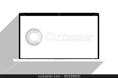 Laptop isolated on white stock photo, Laptop isolated on white, with blank screen. by Bratovanov