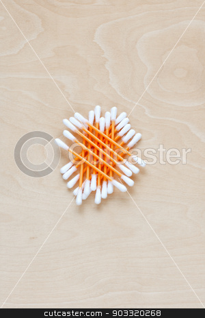 Ear sticks scattered on a table stock photo, Ear sticks scattered on a table by Sergiy Artsaba