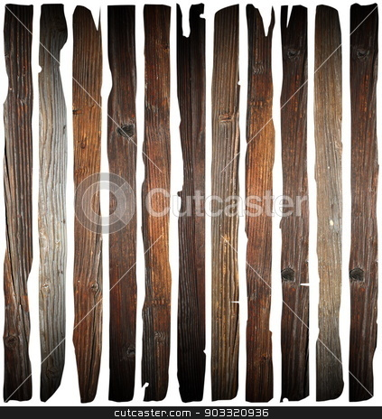 old damaged wood planks on white stock photo, old damaged wood planks isolated on white background, abstract wooden pieces by coroiu octavian
