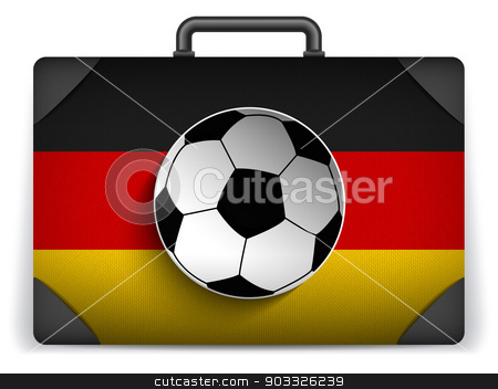 Germany Travel Luggage with Flag for Vacation stock vector clipart, Vector - Germany Travel Luggage with Flag for Vacation by Augusto Cabral Graphiste Rennes