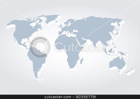 world map stock vector clipart, World Map 3d, vector illustration by Miroslava Hlavacova