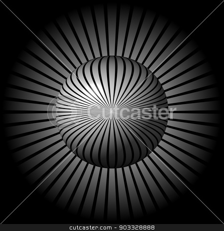 Black and White Star Globe stock photo, Black and white globe in front of a star shaped background. by Henrik Lehnerer