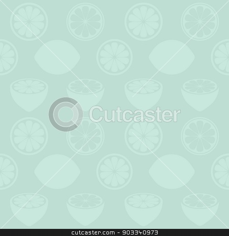 Seamless pattern stock vector clipart, Seamless mint pattern with various lemon symbols by blumer